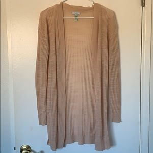 Peachy pink Nordstrom oversized cardigan